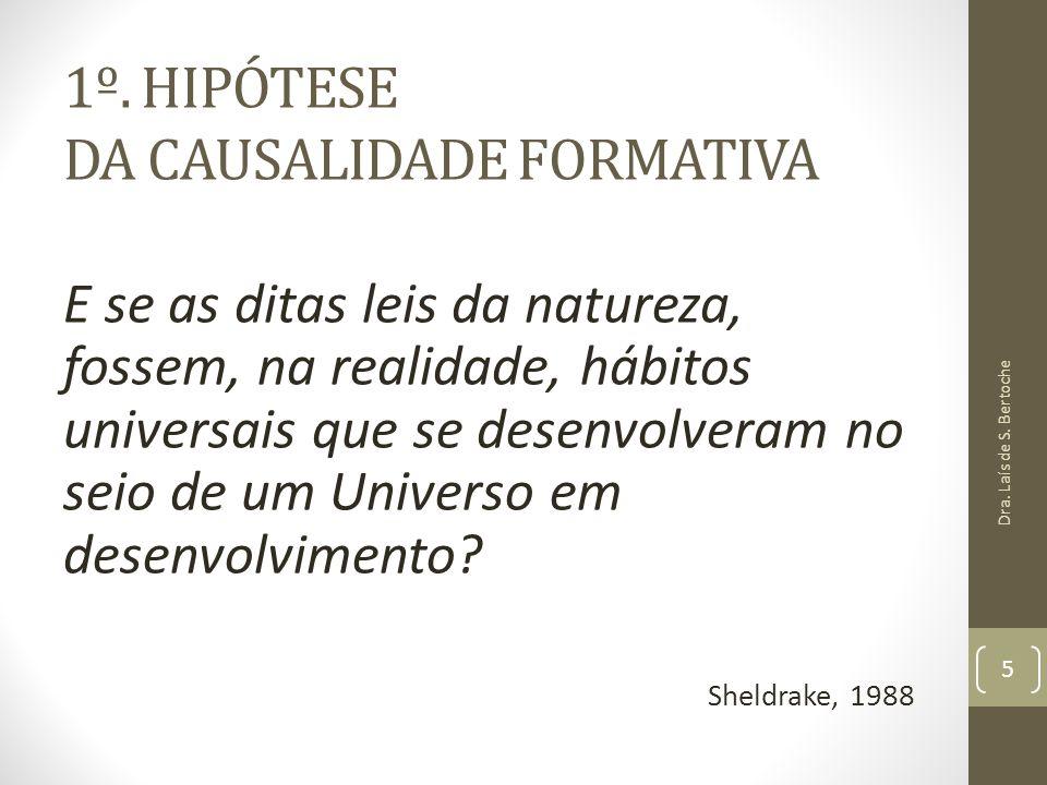 1º. HIPÓTESE DA CAUSALIDADE FORMATIVA