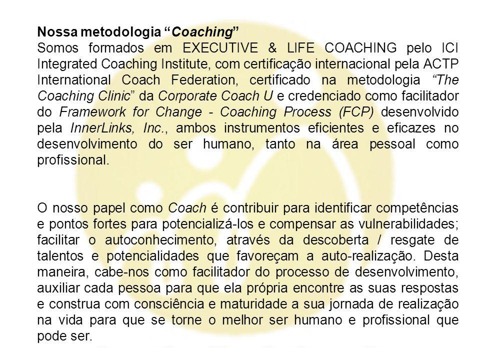 Nossa metodologia Coaching