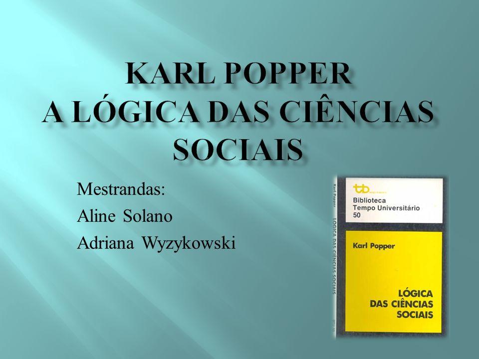 Karl popper a lógica das ciências sociais
