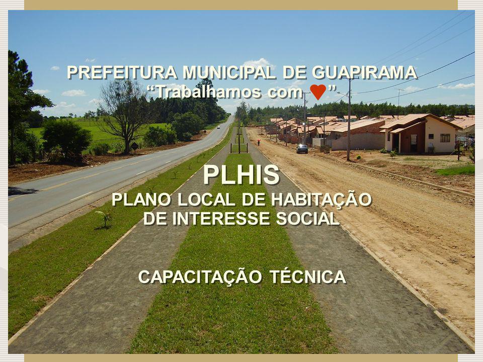 PREFEITURA MUNICIPAL DE GUAPIRAMA PLANO LOCAL DE HABITAÇÃO