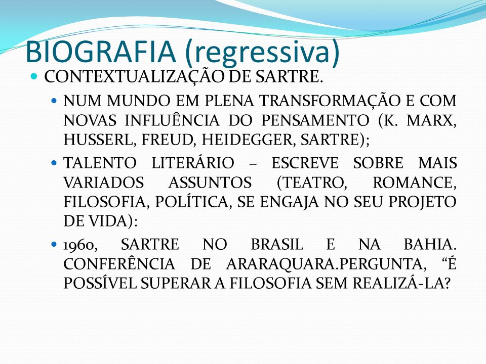 BIOGRAFIA (regressiva)