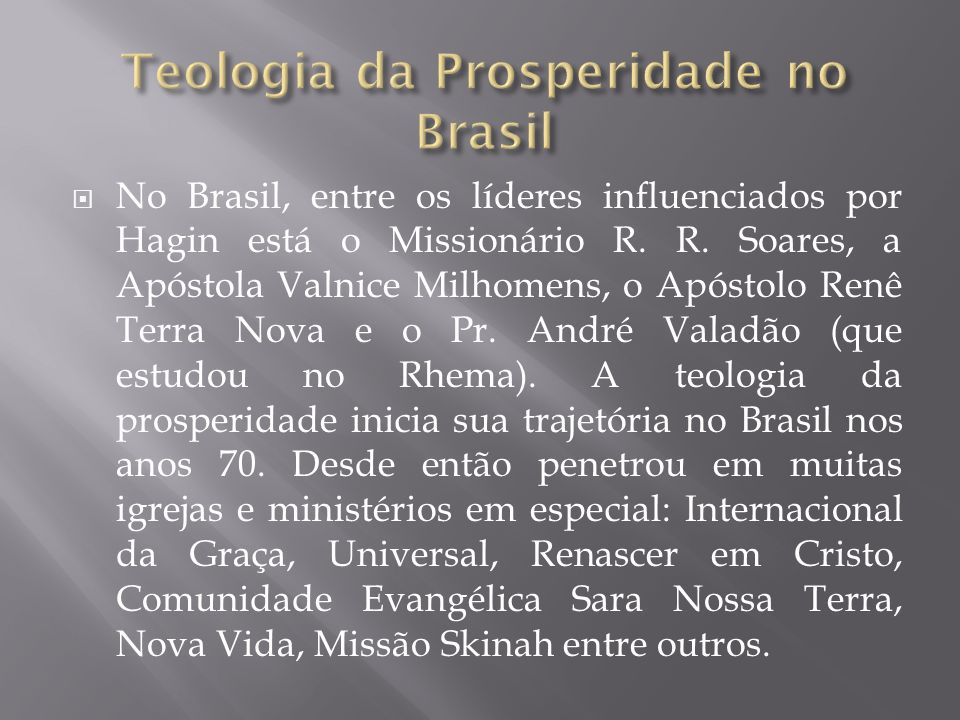 Teologia da Prosperidade no Brasil