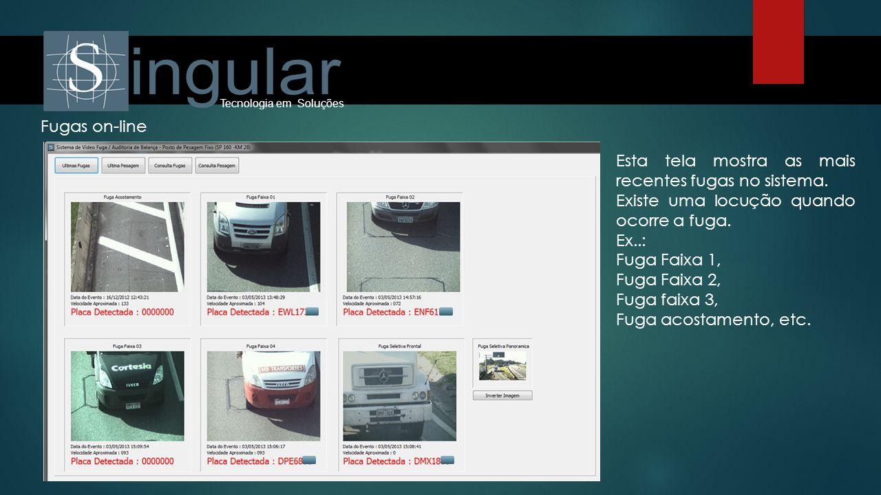 Esta tela mostra as mais recentes fugas no sistema.