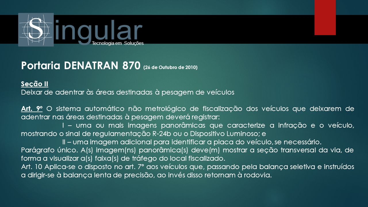 Portaria DENATRAN 870 (26 de Outubro de 2010)