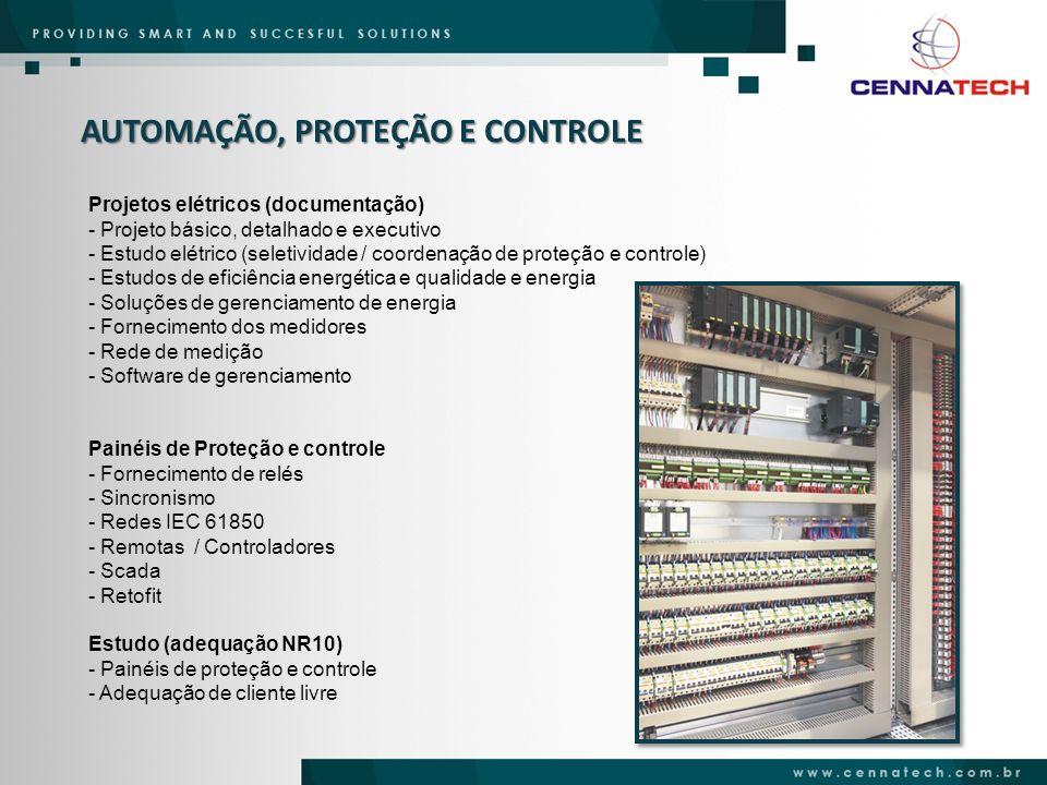 AUTOMAÇÃO, PROTEÇÃO E CONTROLE