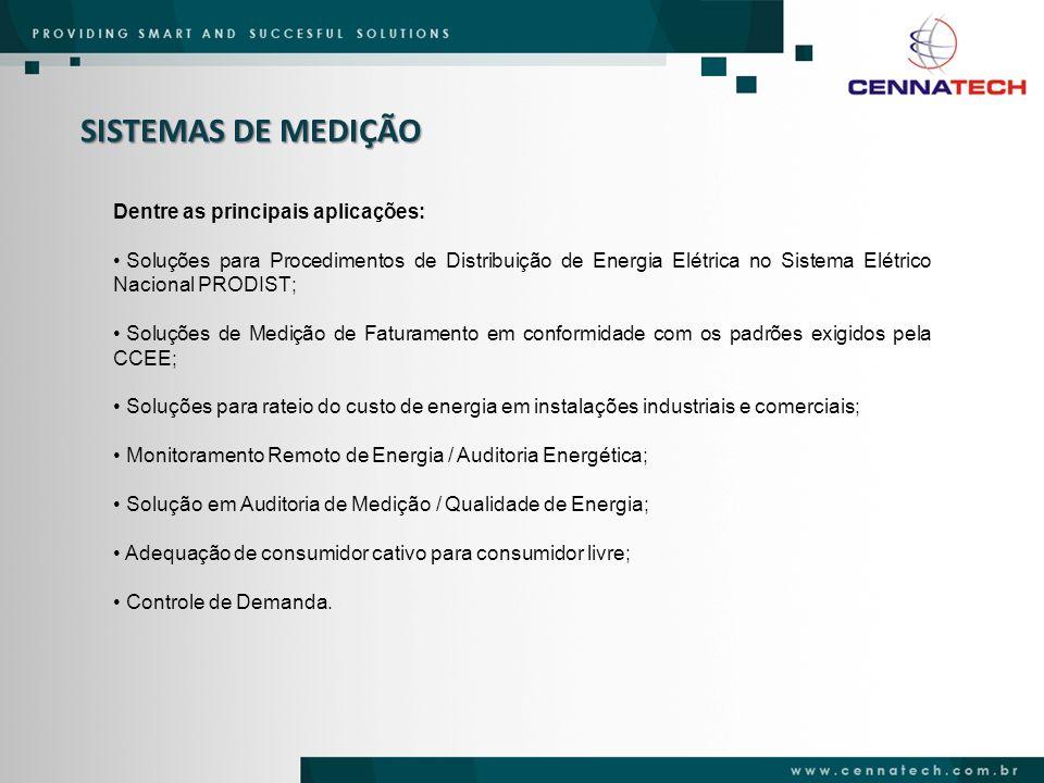 SISTEMAS DE MEDIÇÃO Dentre as principais aplicações: