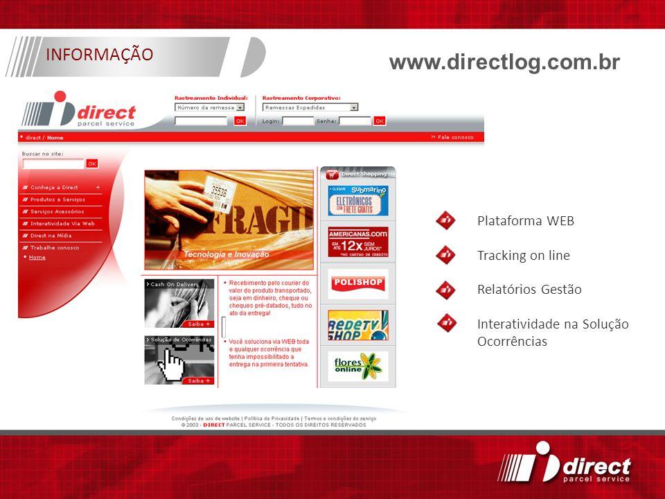 www.directlog.com.br INFORMAÇÃO Plataforma WEB Tracking on line