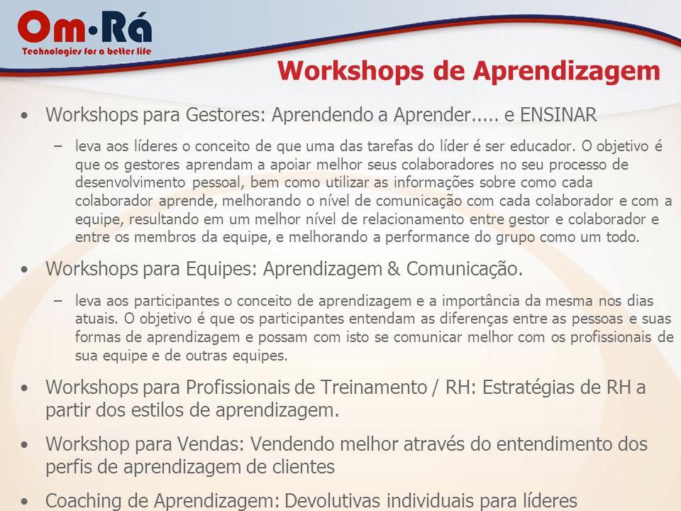 Workshops de Aprendizagem