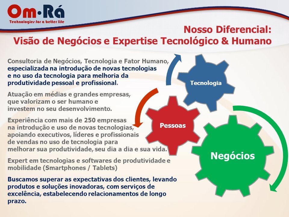 Nosso Diferencial: Visão de Negócios e Expertise Tecnológico & Humano