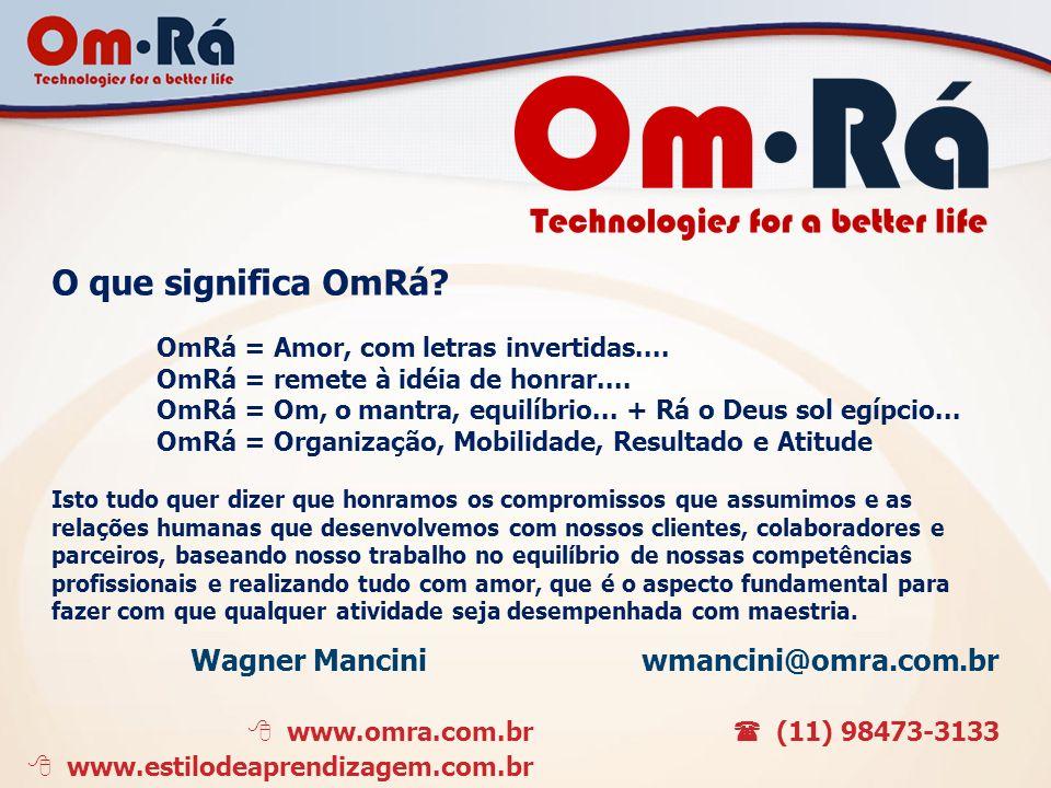 O que significa OmRá Wagner Mancini wmancini@omra.com.br