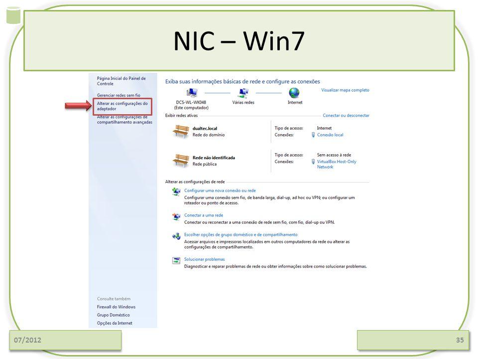 NIC – Win7 07/2012