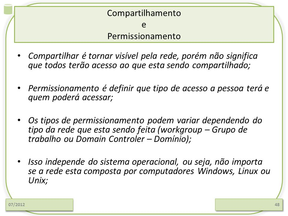 Compartilhamento e Permissionamento