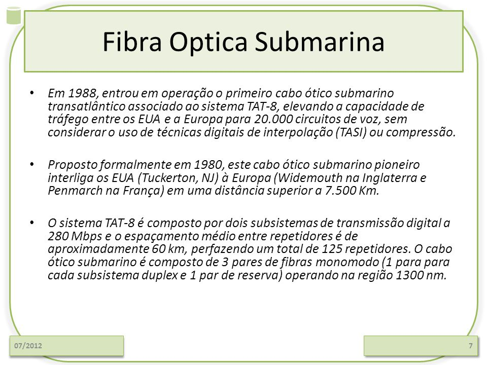 Fibra Optica Submarina