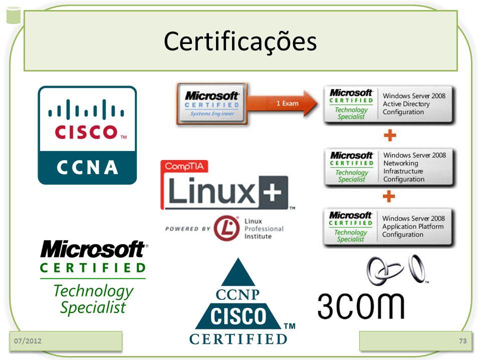 Certificações 07/2012