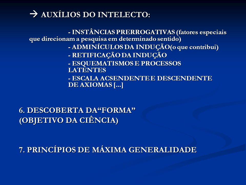  AUXÍLIOS DO INTELECTO: