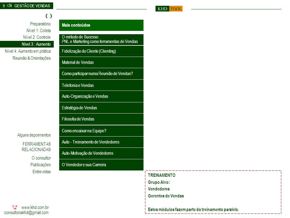 PNL e Marketing como ferramentas de Vendas Nível 3 : Aumento