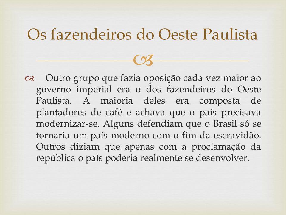 Os fazendeiros do Oeste Paulista