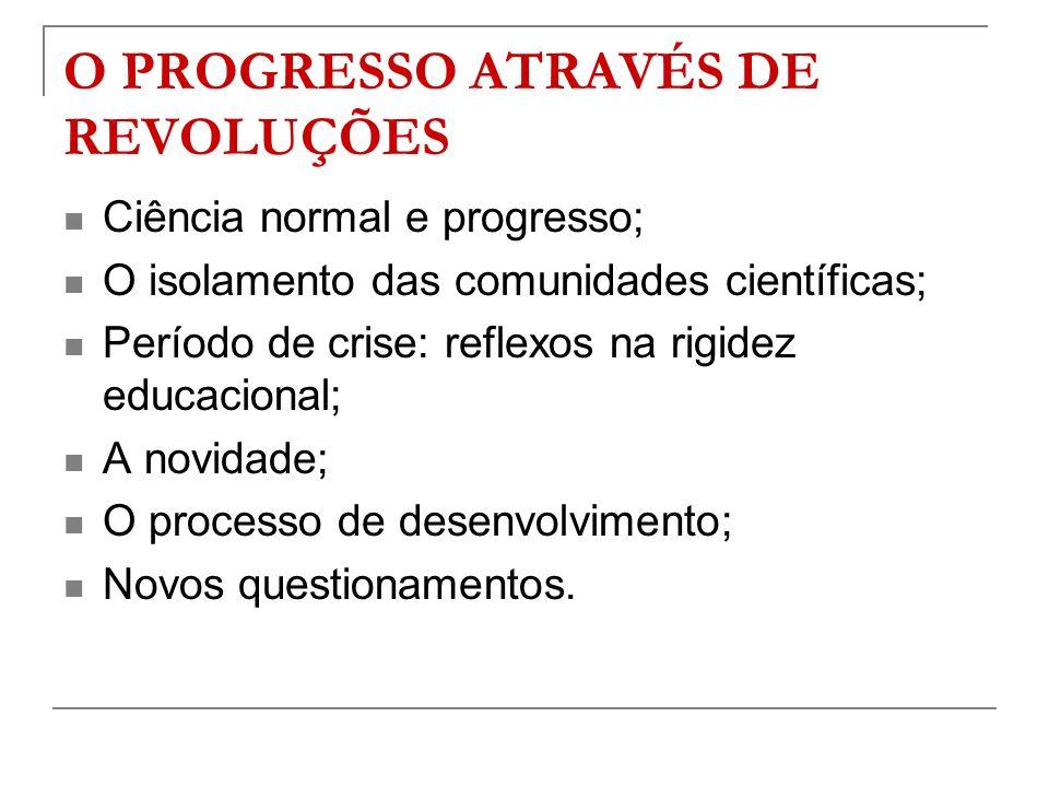 O PROGRESSO ATRAVÉS DE REVOLUÇÕES