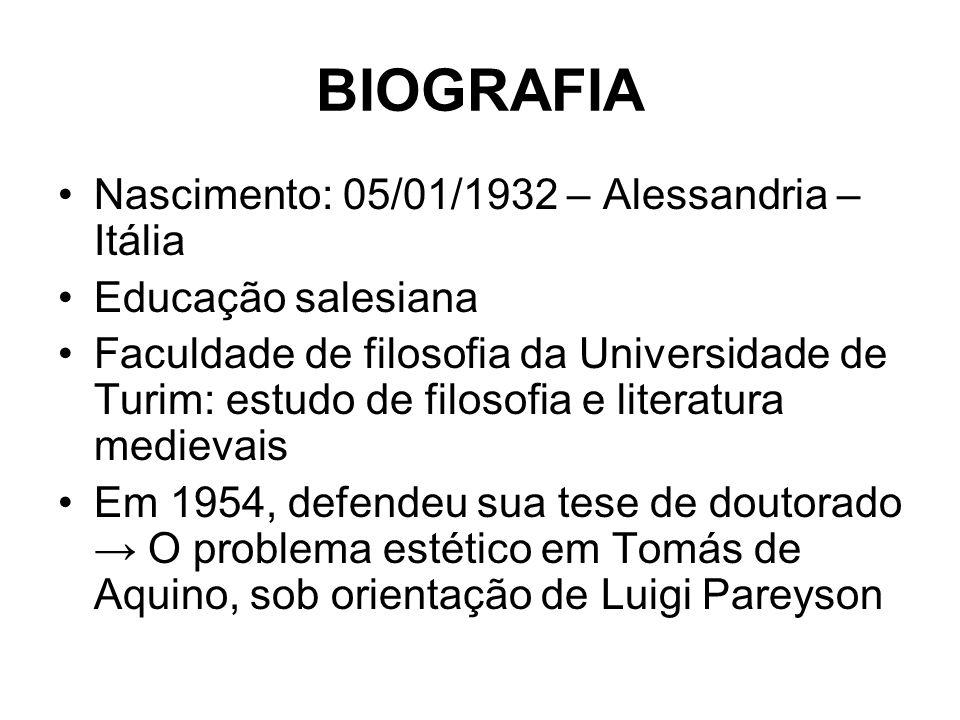 BIOGRAFIA Nascimento: 05/01/1932 – Alessandria – Itália