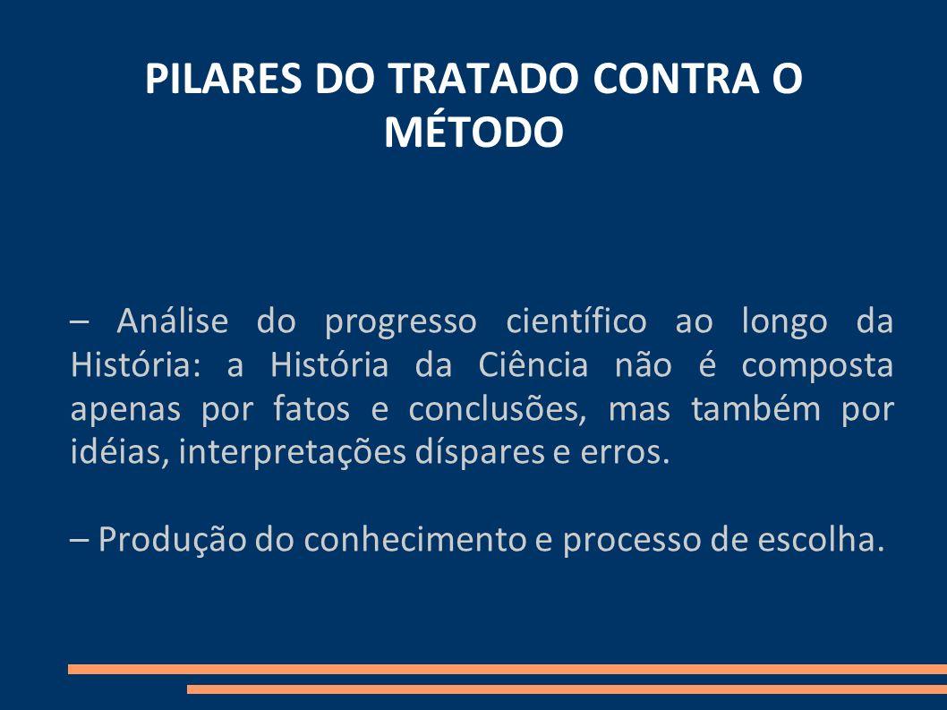 PILARES DO TRATADO CONTRA O MÉTODO