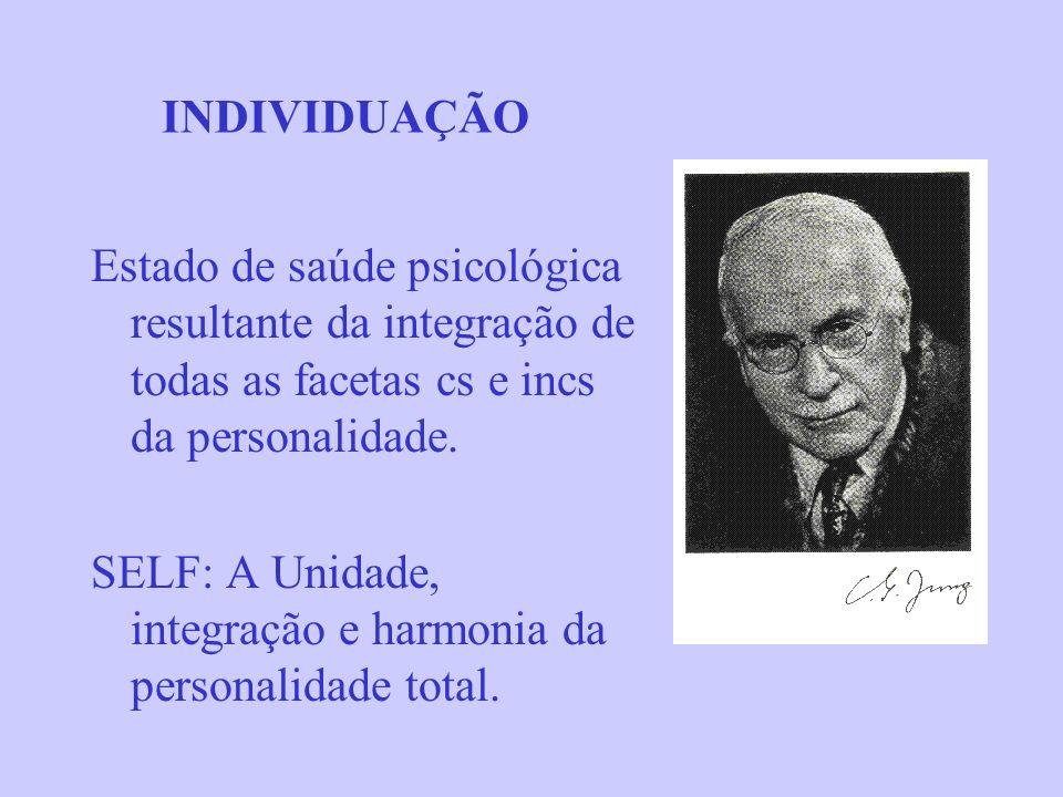 INDIVIDUAÇÃOEstado de saúde psicológica resultante da integração de todas as facetas cs e incs da personalidade.