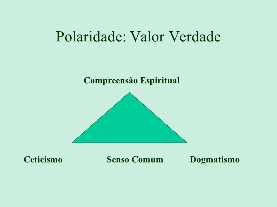 Polaridade: Valor Verdade