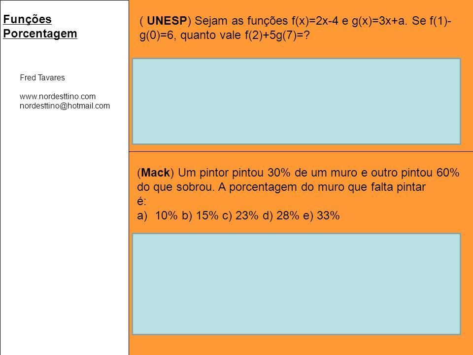 Logo, fazendo a subtração f(1) – g(0) = 6 → -2 - a = 6 → a = -8