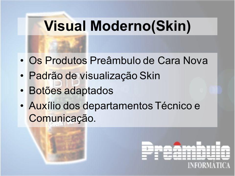 Visual Moderno(Skin) Os Produtos Preâmbulo de Cara Nova