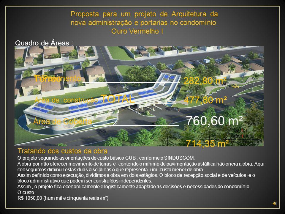 760,60 m² Térreo __________________________ 282,80 m² 477,80 m²