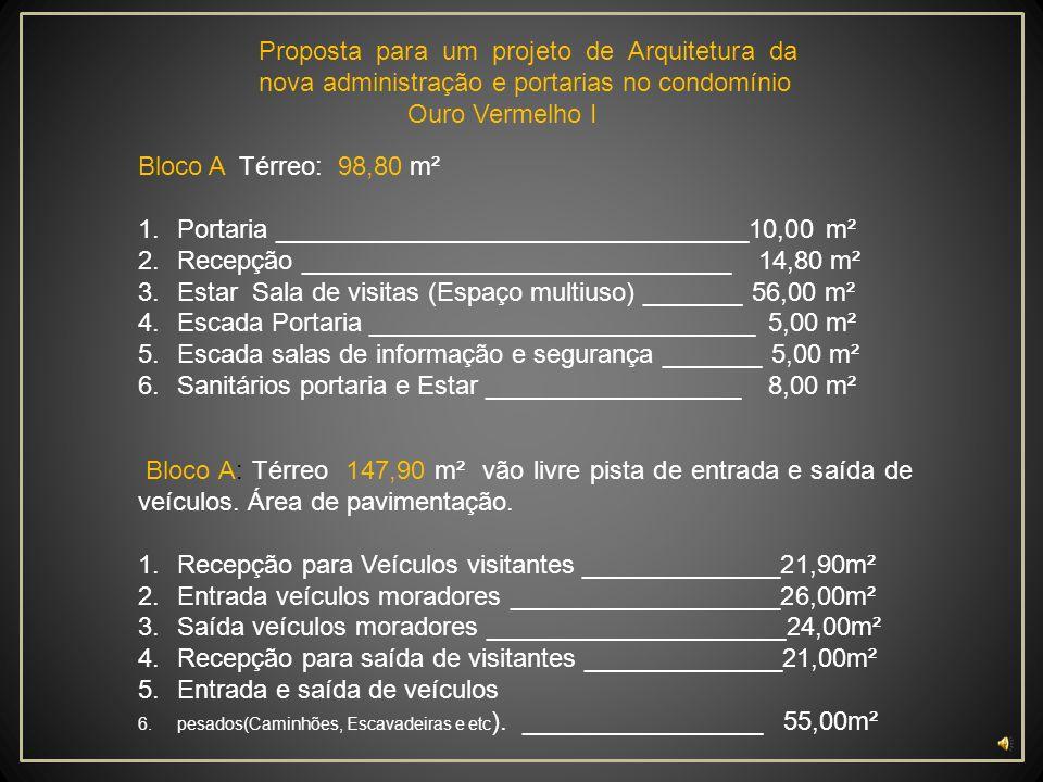 Portaria _________________________________10,00 m²