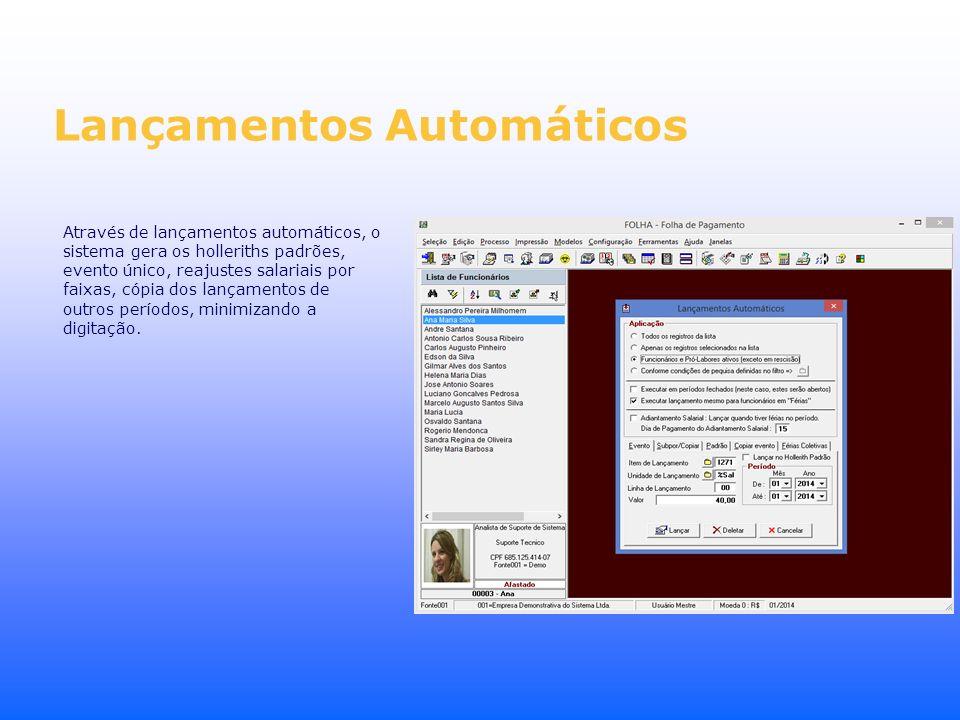 Lançamentos Automáticos