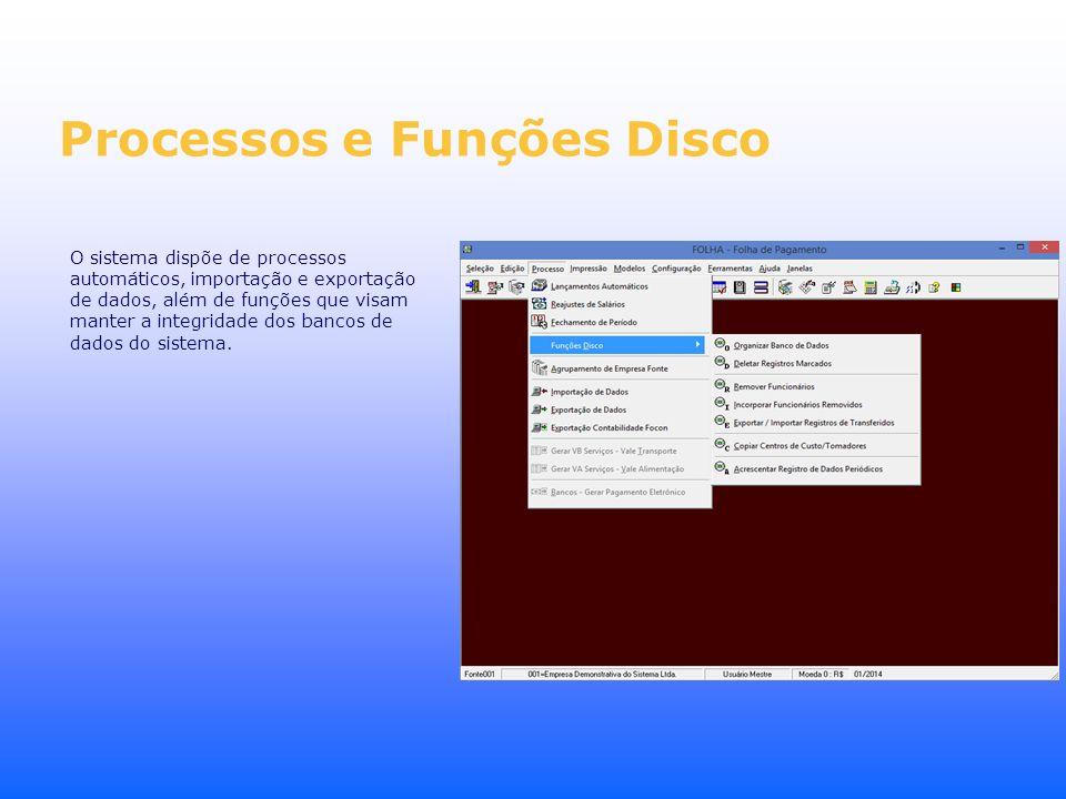 Processos e Funções Disco