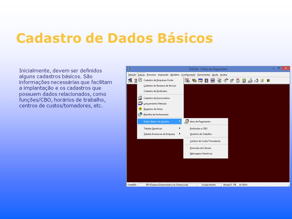 Cadastro de Dados Básicos