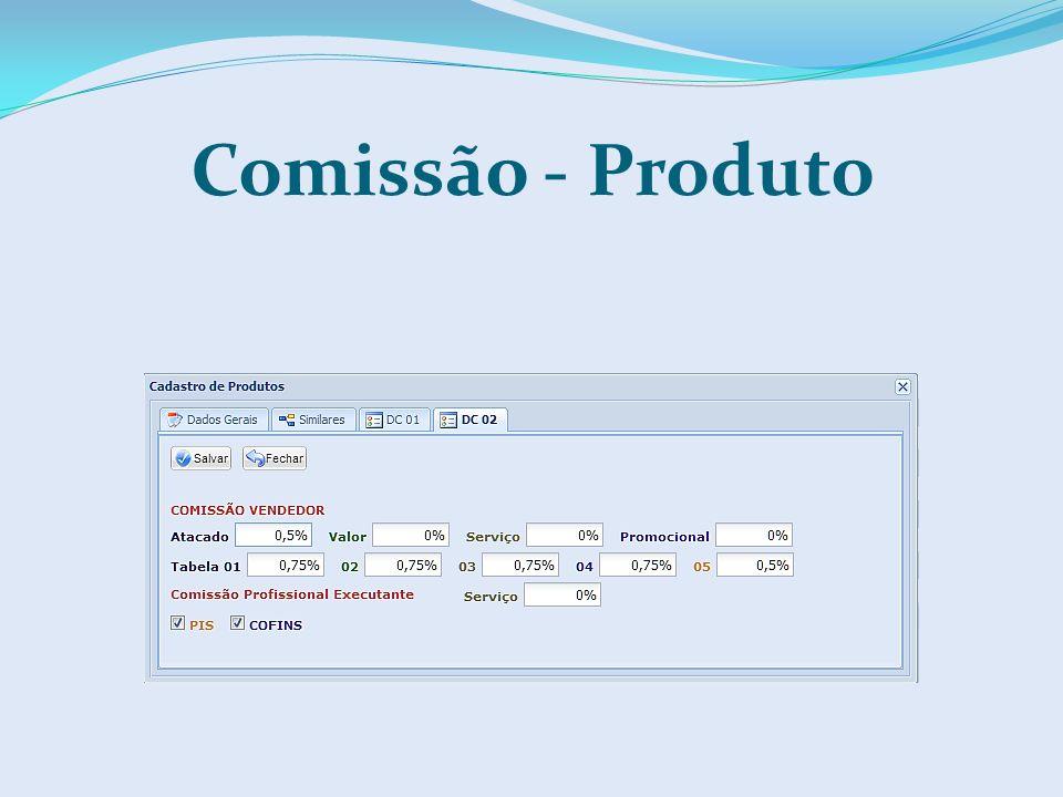 Comissão - Produto