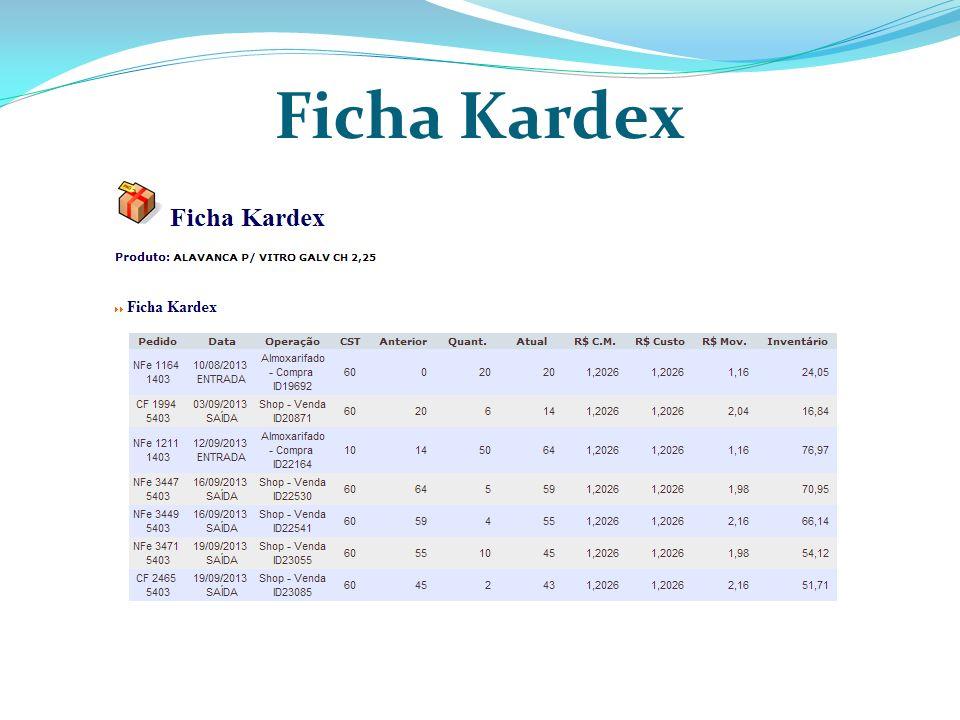 Ficha Kardex