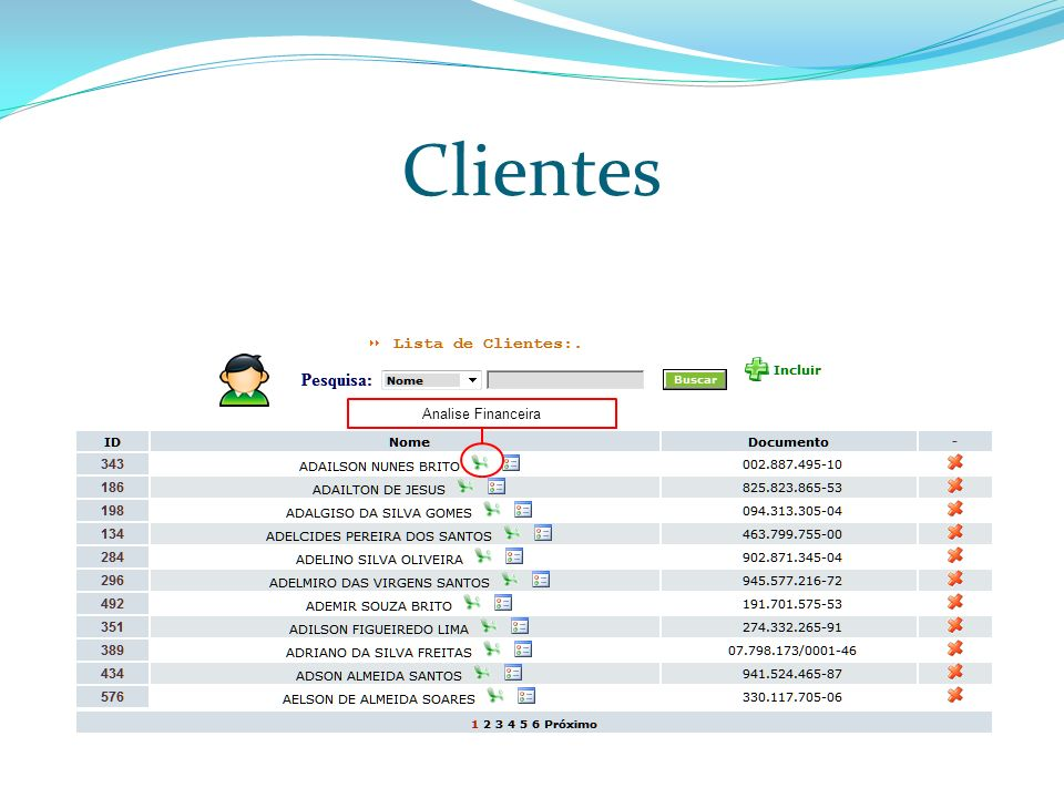 Clientes Analise Financeira