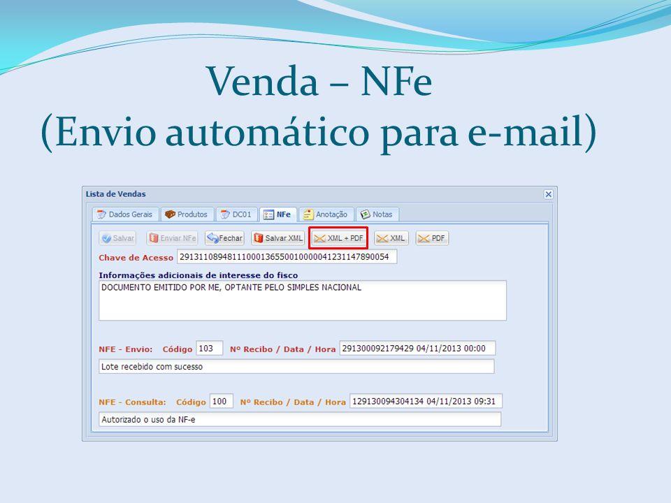 Venda – NFe (Envio automático para e-mail)