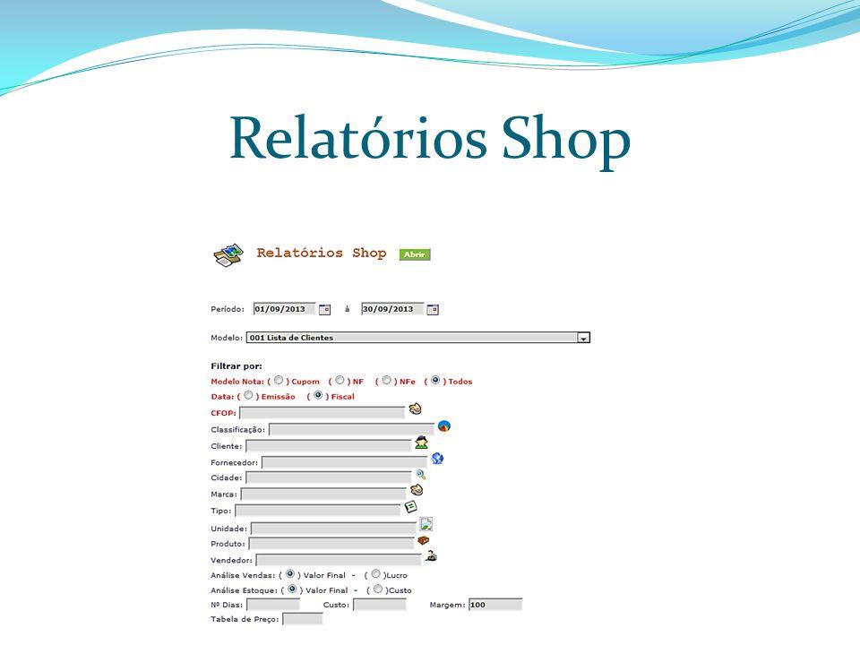 Relatórios Shop