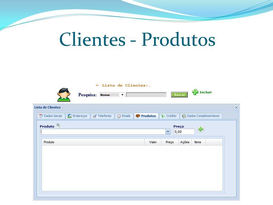 Clientes - Produtos