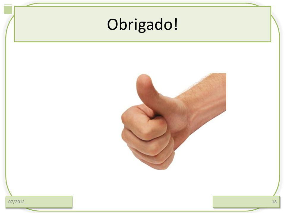 Obrigado! 07/2012