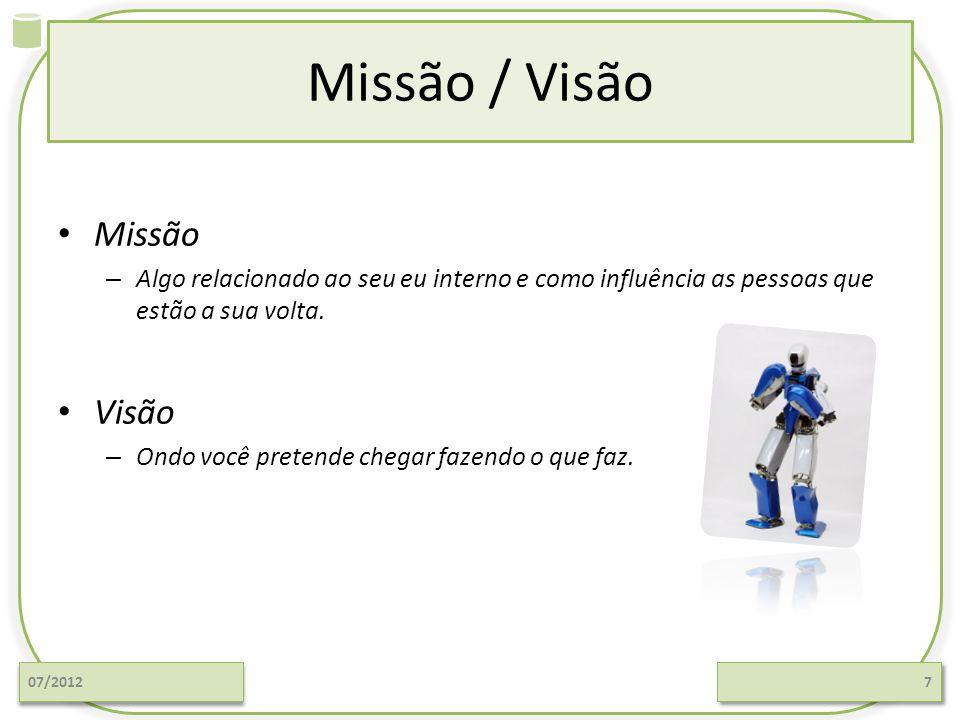 Missão / Visão Missão Visão