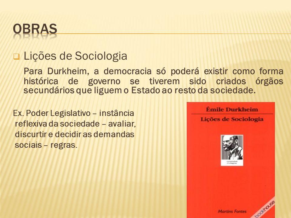 Obras Lições de Sociologia