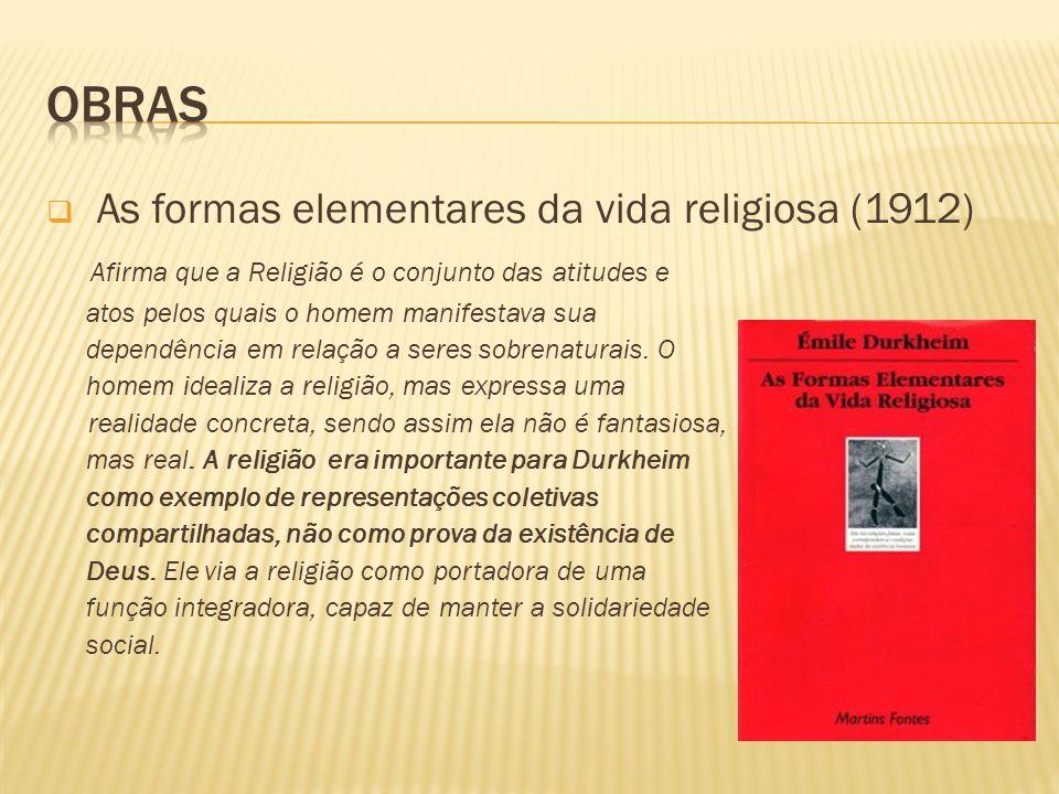 Obras As formas elementares da vida religiosa (1912)