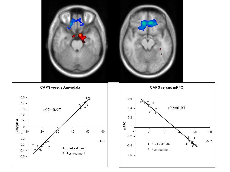 r^2=0.97 r^2=0.97 CAPS versus Amygdala CAPS versus mPFC -0.5 -0.4 -0.3