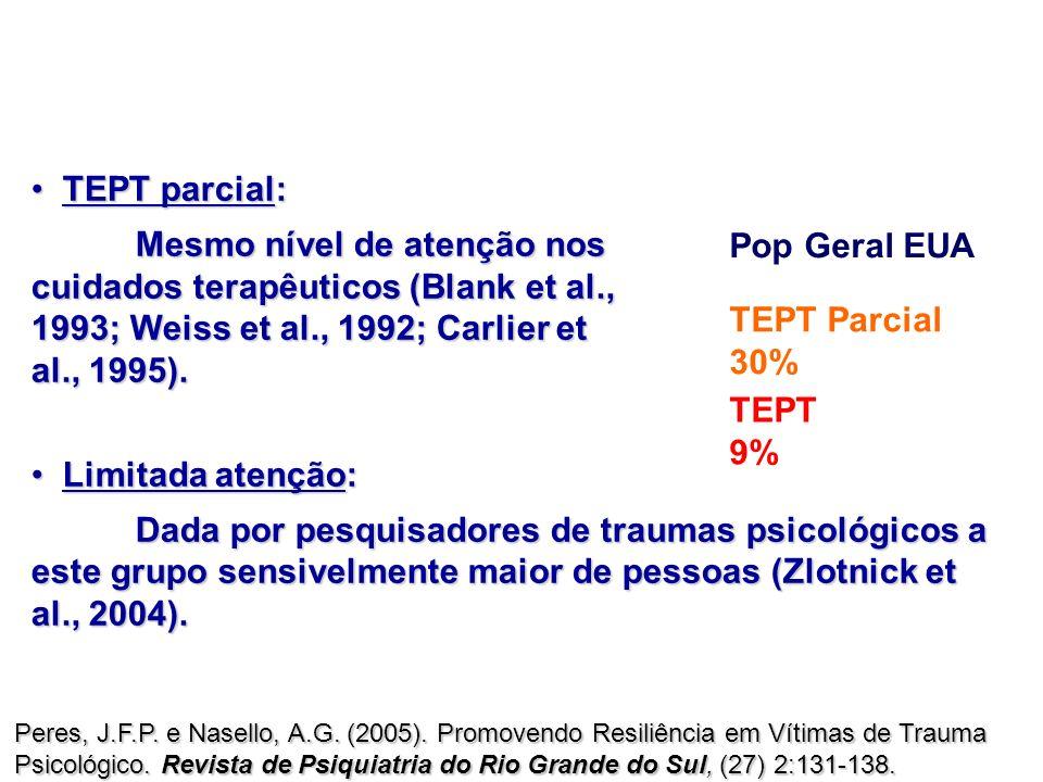 Mesmo nível de atenção nos cuidados terapêuticos (Blank et al.,