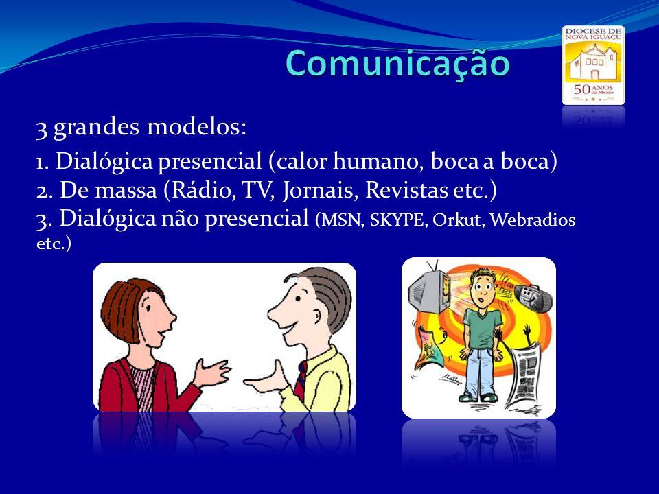 Comunicação 3 grandes modelos: