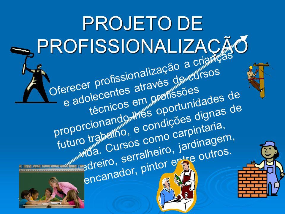 PROJETO DE PROFISSIONALIZAÇÃO