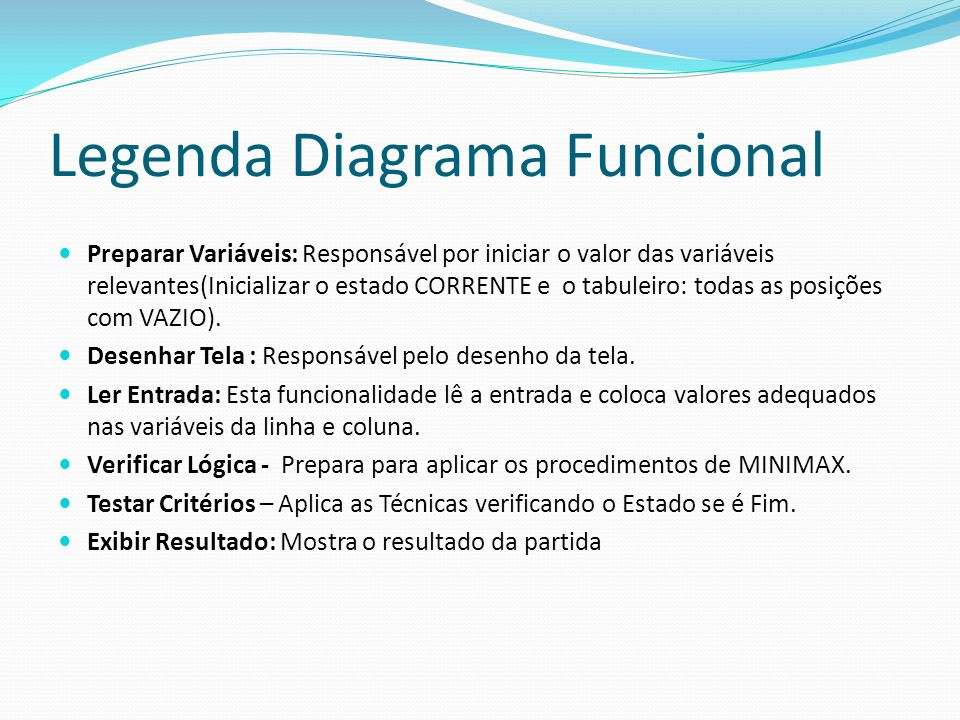 Legenda Diagrama Funcional