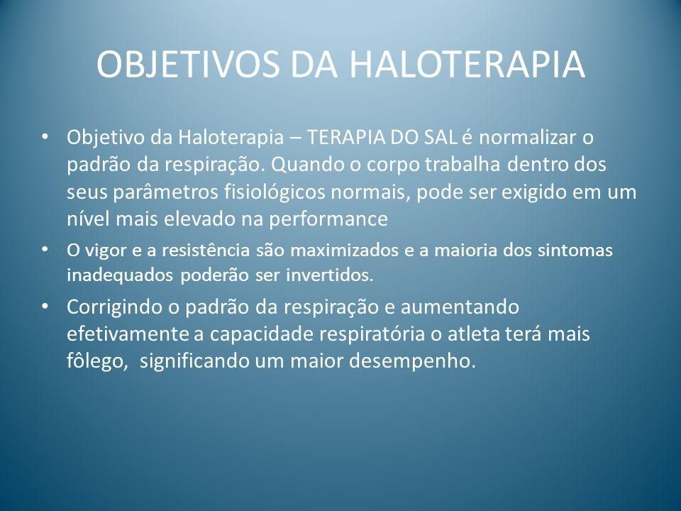OBJETIVOS DA HALOTERAPIA