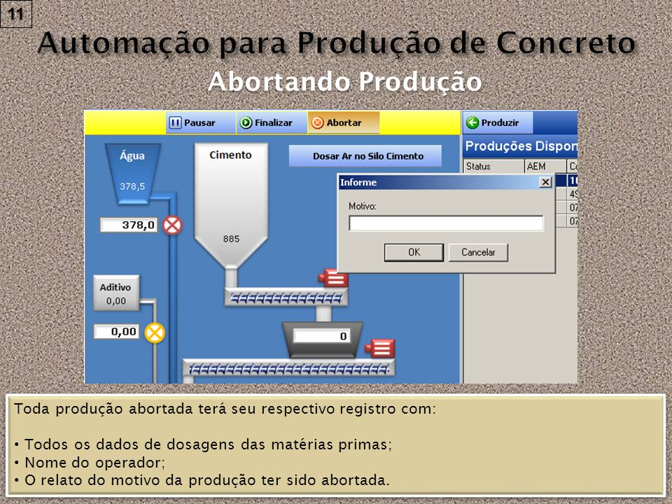 Automação para Produção de Concreto